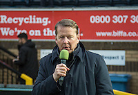 BBC Breakfast Show presenter Bill Turnbull during the Sky Bet League 2 match between Wycombe Wanderers and Exeter City at Adams Park, High Wycombe, England on 13 February 2016. Photo by Massimo Martino.
