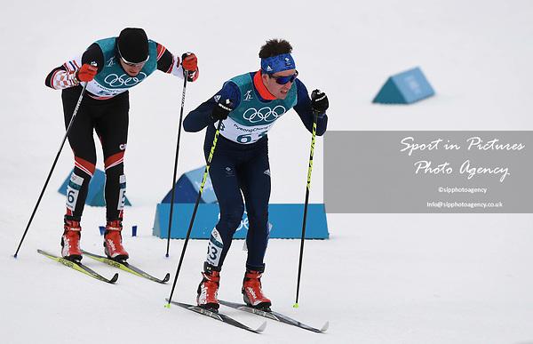 Callum Smith (GBR, 63). Mens 15km Skiathlon. Cross country skiing. Pyeongchang2018 winter Olympics. Alpensia cross country centre. Alpensia. Gangneung. Republic of Korea. 11/02/2018. ~ MANDATORY CREDIT Garry Bowden/SIPPA - NO UNAUTHORISED USE - +44 7837 394578