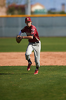 J.C. Dyer (1) of Desert Ridge High School in Mesa, Arizona during the Baseball Factory All-America Pre-Season Tournament, powered by Under Armour, on January 14, 2018 at Sloan Park Complex in Mesa, Arizona.  (Zachary Lucy/Four Seam Images)