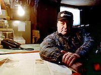 Frank Thederahn of Bruderheim, Alberta on his farm on January 27, 2000.. John Ulan/Epic Photography Inc.