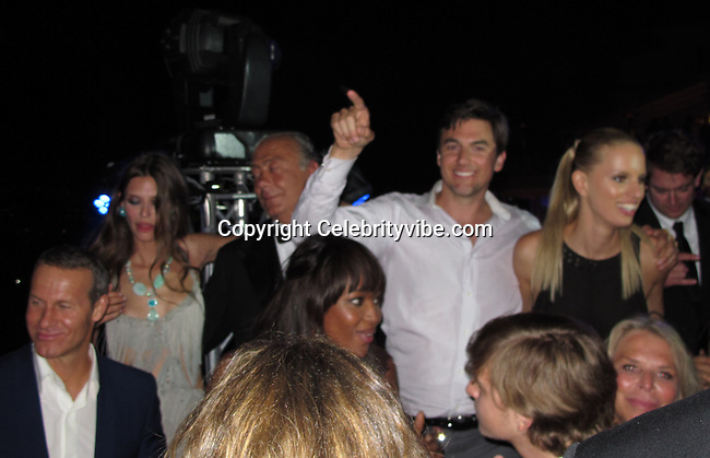 Vladimir Doronin, Naomi Campbell, Bianca Balti, Founder and President of De Grisogono Fawaz Gruosi, Archie Drury and Karolina Kurkova..De Grisogno Party..2011 Cannes Film Festival..Eden Roc Restaurant at Hotel Du Cap..Cap D'Antibes, France..Tuesday, May 17, 2011..Photo By CelebrityVibe.com..To license this image please call (212) 410 5354; or.Email: CelebrityVibe@gmail.com ;.website: www.CelebrityVibe.com