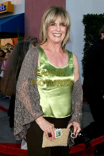 "LINDA GRAY.""Cinderella Man"" World Premiere held at The Gibson Amphitheatre..May 23rd, 2005.Photo Credit: Jacqui Wong/AdMedia.half length green silk satin top shawl wrap.www.capitalpictures.com.sales@capitalpictures.com.© Capital Pictures."