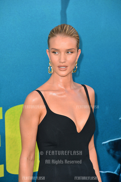 "LOS ANGELES, CA - August 06, 2018: Rosie Huntington-Whiteley at the US premiere of ""The Meg"" at the TCL Chinese Theatre"