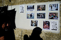 artists show their critical position regarding the Abu Ghraib tourtures trough a collective exhibition on June 05 2004 in the Hewar gallery in Baghdad