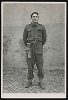 BNPS.co.uk (01202 558833)<br /> Pic: Warwick&Warwick/BNPS<br /> <br /> Private Reginald Makeham at Colditz - He was captured after the successful Operation Musketoon commando raid on a Norwegian power station and later executed under Hitler's notorious 'Commando Order' in Sachsenhausen concentration camp near Berlin.<br /> <br /> A remarkable archive of photos which provide a glimpse inside the infamous Colditz Castle has come to light.<br /> <br /> The photos show the ingenuity of the Allied POWs who devised ever-bolder ways to escape from the German stronghold during World War Two.<br /> <br /> One image is of a dummy they would hold up to trick the German guards into believing the escaper was still with them during parade head counts. Others reveal the tunnels which were dug using tools smuggled into the 11th century castle in care parcels.<br /> <br /> The photos were taken by the official Colditz photographer Johannes Lange, who was employed by the German Army to take pictures of failed Allied escape attempts. They were then distributed to other POW camps to alert the guards to the methods the inmates were using in their bids for freedom.<br /> <br /> The archive is being sold by a private collector with auctioneer Warwick & Warwick, with an estimate of £1,750.