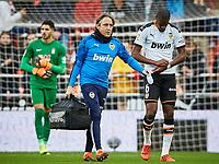 9th November 2019; Mestalla, Valencia, Spain; La Liga Football,Valencia versus Granada; Geoffrey Kondogbia of Valencia CF, leaves the field injured - Editorial Use