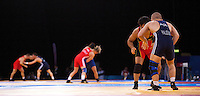 11 DEC 2011 - LONDON, GBR - Bouts took place on three mats during the London International Wrestling Invitational and 2012 Olympic Games test event at the ExCel Exhibition Centre in London, Great Britain (PHOTO (C) NIGEL FARROW)
