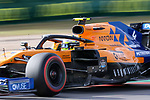 McLaren Renault driver Lando Norris (4) of Great Britain in action during the Formula 1 Emirates United States Grand Prix practice session held at the Circuit of the Americas racetrack in Austin,Texas.