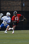 2013 March 02: Goran Murray #44 of the Maryland Terrapins during a game against the Duke Blue Devils at Koskinen Stadium in Durham, NC.  Maryland won 16-7.