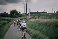 stretched peloton<br /> <br /> 97th Brussels Cycling Classic (1.HC)<br /> 1 Day Race: Brussels &gt; Brussels (201km)