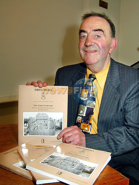 Jim Garry with his book The Cord Cemetery which was officially launched in The Governer's House, Millmount on Thursday..Picture Paul Mohan Newsfile