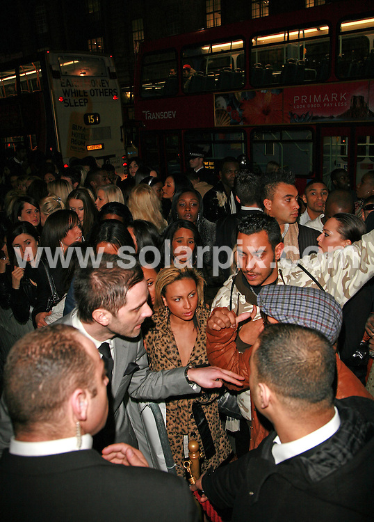 **ALL ROUND PICTURES FROM SOLARPIX.COM**.**WORLDWIDE SYNDICATION RIGHTS**.Sean P Diddy Coombes attends a party at Paper on Regents Street in London initially to celebrate Diddy's planned gig with Snoop Dogg at Wembley Arena on 27.03.07.  However the concert was cancelled at late notice due to Snoop being refused a Visa to enter the UK, following his arrest at Heathrow on his last trip to England. This pic: Tension rises in the crowds waiting outside the venue..JOB REF:   3595       GMT        DATE: 27.03.07.**MUST CREDIT SOLARPIX.COM OR DOUBLE FEE WILL BE CHARGED* *UNDER NO CIRCUMSTANCES IS THIS IMAGE TO BE REPRODUCED FOR ANY ONLINE EDITION WITHOUT PRIOR PERMISSION*
