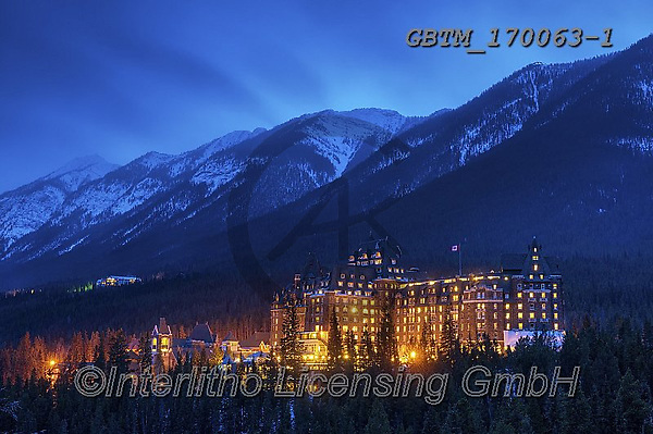 Tom Mackie, CHRISTMAS LANDSCAPES, WEIHNACHTEN WINTERLANDSCHAFTEN, NAVIDAD PAISAJES DE INVIERNO, photos,+Alberta, Banff National Park, Canada, Canadian, Canadian Rockies, North America, Tom Mackie, USA, blue, blue hour, cold, free+ze, freezing, frozen, gold, golden, holiday destination, horizontal, horizontals, hotel, hotels, landscape, landscapes, mount+ain, mountainous, mountains, national park, season, snow, snow-covered, time of day, tourist attraction, travel, twilight, we+ather, winter, wintery, yellow,Alberta, Banff National Park, Canada, Canadian, Canadian Rockies, North America, Tom Mackie, U+,GBTM170063-1,#xl#