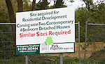 Building site notice for residential development similar sites wanted for construction of houses, Playford, Suffolk, England