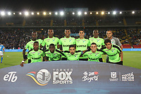 BOGOTA - COLOMBIA, 25-01-2018: Jugadores del Deportivo Cali  posan para una foto previo al encuentro entre Millonarios y el  Deportivo Cali  por el Torneo Fox Sports 2018 jugado en el estadio Nemesio Camacho El Campin de la ciudad de Bogotá. / Players of Deportivo Cali pose to a photo prior the match between Millonarios and Deportivo Cali for the Fox Sports Tournament 2018 played at Nemesio Camacho El Campin Stadium in Bogota city. Photo: VizzorImage / Felipe Caicedo / Staff.