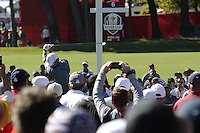 Raffa Cabrera-Bello (Team Europe) on the 6th tee during the Friday afternoon Fourball at the Ryder Cup, Hazeltine national Golf Club, Chaska, Minnesota, USA.  30/09/2016<br /> Picture: Golffile | Fran Caffrey<br /> <br /> <br /> All photo usage must carry mandatory copyright credit (&copy; Golffile | Fran Caffrey)