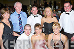RINGING:  Ringing in the new year at the New Year's Eve Ball held in the Brandon Hotel on Monday night were front l-r: David Ladden, Mary O'Brien and Sandra Griffin. Back l-r: Valerie and Pat O'Connell, Kevin O'Connor, Lisa Kirby and Tommy Evans.   Copyright Kerry's Eye 2008