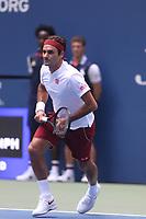 Roger Federer<br /> Tennis USopen Day4.  8-30-2018<br /> Photo by John Barrett/PHOTOlink.net