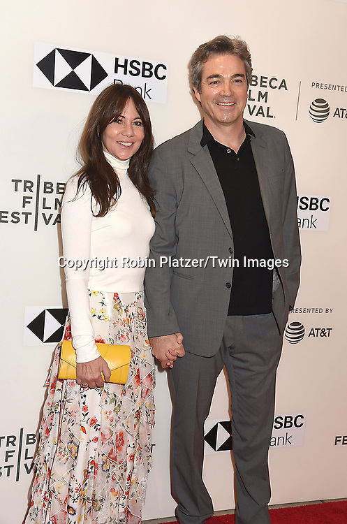 "actor Jon Tenney and wife producer  Leslie Urdan gattend ""The Seagull"" Screening at the Tribecca Film Festival at BMCC on April 21, 2018 in New York City, New York, USA.<br /> <br /> photo by Robin Platzer/Twin Images<br />  <br /> phone number 212-935-0770"