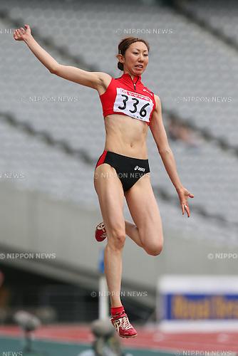 Saeko Okayama, <br /> JUNE 7, 2013 - Athletics : <br /> The 97th Japan Track &amp; Field National Championships <br /> Women's Long Jump Final <br /> at Ajinomoto Stadium, Tokyo, Japan. <br /> (Photo by YUTAKA/AFLO SPORT) [1040]