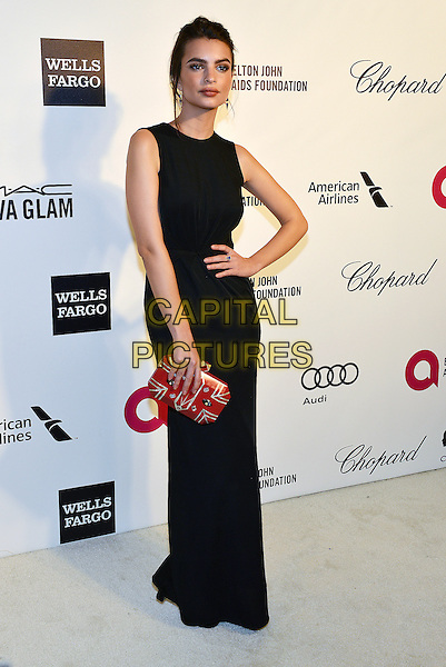 02 March 2014 - West Hollywood, California - Emily Ratajkowski. 22nd Annual Elton John Academy Awards Viewing Party held at West Hollywood Park. <br /> CAP/ADM/CC<br /> &copy;CC/AdMedia/Capital Pictures