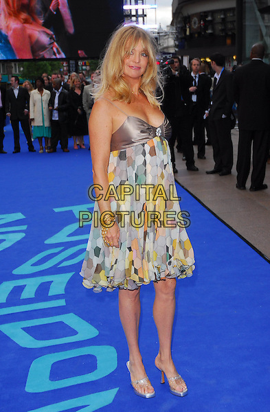 "GOLDIE HAWN .At the UK Film Premiere of ""Poseidon"", .Empire Leicester Square, London, .May 28th 2006..full length sunglasses armpit print patterned babydoll chiffon satin dress .Ref: CAN.www.capitalpictures.com.sales@capitalpictures.com.©Can Nguyen/Capital Pictures"