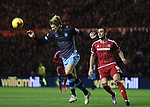 Glenn Loovens of Sheffield Wednesday heading the balling away from KIKE of Middlesbrough - Sky Bet Championship - Middlesbrough vs Sheffield Wednesday - Riverside Stadium - Middlesbrough - England - 28th of December 2015 - Picture Jamie Tyerman/Sportimage