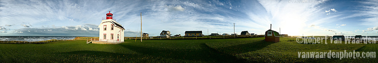 Panorama of Cousins Shore, Prince Edward Island, Canada.