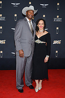 MIAMI, FL - FEBRUARY 1: Mel Blount and TiAnda Blount attend the 2020 NFL Honors at the Ziff Ballet Opera House during Super Bowl LIV week on February 1, 2020 in Miami, Florida. (Photo by Anthony Behar/Fox Sports/PictureGroup)