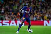 12th September 2017, Camp Nou, Barcelona, Spain; UEFA Champions League Group stage, FC Barcelona versus Juventus; Ousmane Dembélé of FC Barcelona controls the ball