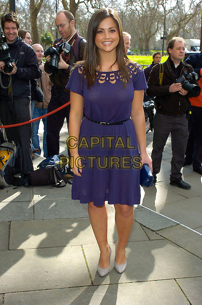 JENNA-LOUISE COLEMAN .Arrivals at the Television & Radio Industries Club (TRIC) Awards at Grosvenor House, London, UK..March 7th, 2007.full length purple dress Jenna Louise .CAP/CAN.©Can Nguyen/Capital Pictures