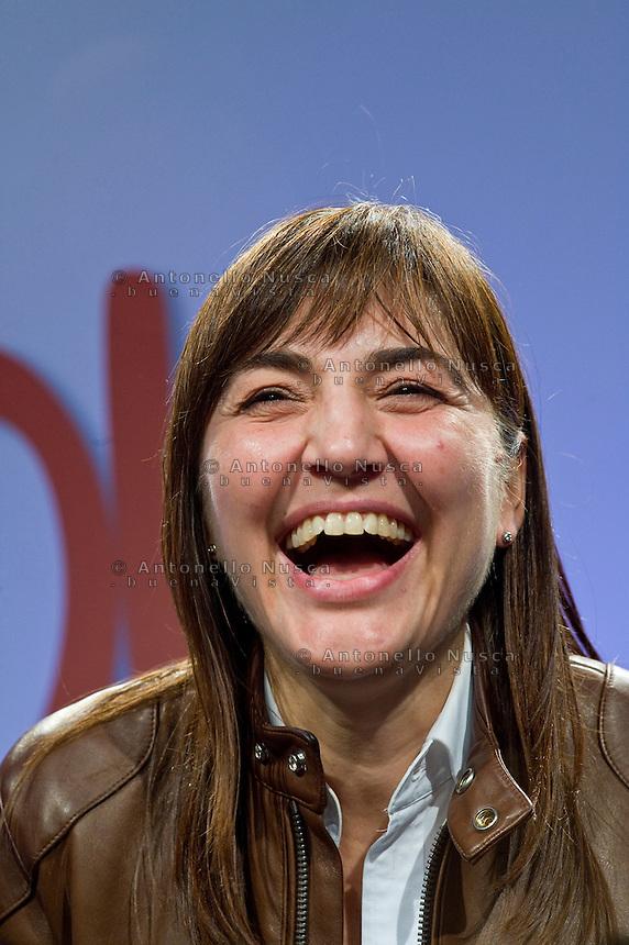 Roma, 29 Marzo, 2010. Renata Polverini festeggia per la vittoria alle elezioni regionali