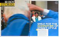 Grazia Magazine<br /> Bill Cunningham &amp; Anna Wintour by NFS<br /> 41009<br /> tearsheet