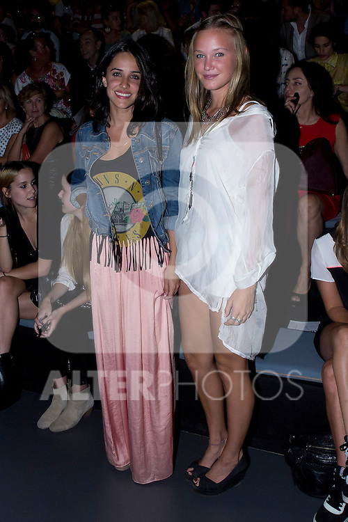 01.09.2012. Celebrities attending the Juan Duyos fashion show during the Mercedes-Benz Fashion Week Madrid Spring/Summer 2013 at Ifema. In the image Macarena Garcia and Lucia Carrero (Alterphotos/Marta Gonzalez)