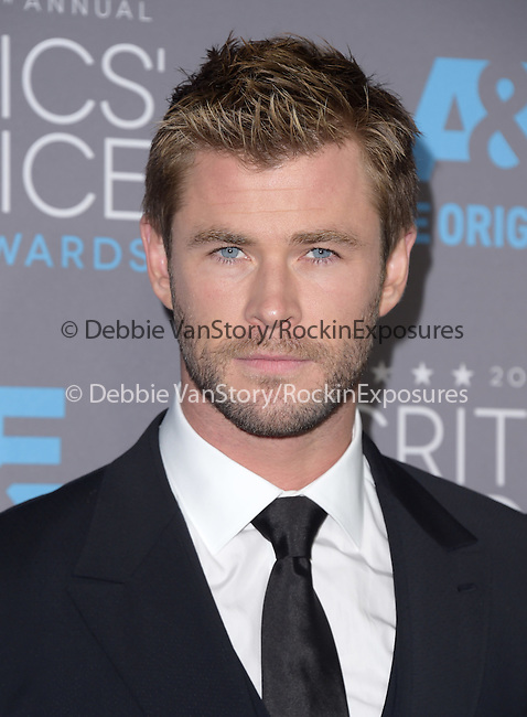 Chris Hemsworth<br />  attends The 20th ANNUAL CRITICS' CHOICE AWARDS held at The Hollywood Palladium Theater  in Hollywood, California on January 15,2015                                                                               © 2015 Hollywood Press Agency