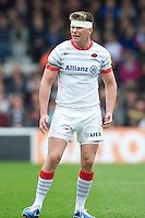 Owen Farrell of Saracens during the Aviva Premiership match between Harlequins and Saracens at the Twickenham Stoop on Sunday 30th September 2012 (Photo by Rob Munro)