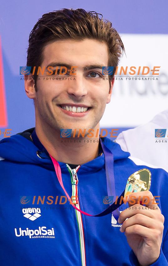 DETTI Gabriele ITA gold medal<br /> London, Queen Elizabeth II Olympic Park Pool <br /> LEN 2016 European Aquatics Elite Championships <br /> Swimming<br /> Men's 400m freestyle final <br /> Day 08 16-05-2016<br /> Photo Giorgio Perottino/Deepbluemedia/Insidefoto