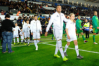 Martin Olsson of Swansea City walked out onto the pitch during the Sky Bet Championship match between Swansea City and West Bromwich Albion at the Liberty Stadium in Swansea, Wales, UK. Wednesday 28 November 2018