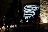 Cidneon - Festival Internazionale delle luci nella foto installazione nel castello di Brescia eventi Brescia 13/02/2017 foto Matteo Biatta<br /> <br /> Cidneo - International festival of the lights in the picture artistic installation in the Castle of Brescia events Brescia 13/02/2017 photo by Matteo Biatta