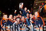 Welcoming the Champions home.  Pictured at the Brosna Home Coming Celebrations on Sunday evening after winning All Ireland Junior Championship.  Brosna Team celebrating the win in front of the home crowd.