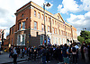Mark Duggan <br /> march and demonstration / vigil at the Broadwater Estate and outside Tottenham Police Station, Tottenham, London, Great Britain <br /> 4th August 2017 <br /> <br /> on the 6th anniversary after he was killed in 2011. <br /> <br /> <br /> Police Station with crowd outside holding a minutes silence <br /> <br /> Photograph by Elliott Franks <br /> Image licensed to Elliott Franks Photography Services
