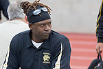 Palos Verdes, CA 11/10/11 - Coach James Mays at the Peninsula-Palos Verdes varsity football game.