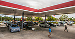 TALLAHASSEE, FL - OCTOBER 08: People line up for gasoline as Hurricane Michael bears down on the northern Gulf coast of Florida on October 8, 2018 in Tallahassee, Florida. (Photo by Mark Wallheiser/Getty Images)