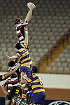 Andrew Van der Heijden claims lineout ball during the Air NZ Cup rugby game between Bay of Plenty & Counties Manukau played at Blue Chip Stadium, Mt Maunganui on 16th of September, 2006. Bay of Plenty won 38 - 11.