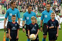 GRONINGEN - Voetbal , FC Groningen - FC Twente , KNVB Beker seizoen 2018-2019, 27-09-2018,  Hessel Steegstra, Danny Makkelie en Mario Diks