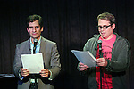 Seth Rudetsky and Matthew Broderick performing at the Seth Rudetsky Book Launch Party for 'Seth's Broadway Diary' at Don't Tell Mama Cabaret on October 22, 2014 in New York City.