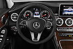 Car pictures of steering wheel view of a 2016 Mercedes Benz GLC-Class GLC300 5 Door SUV Steering Wheel