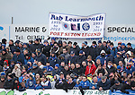 Rangers fans with a tribute to Rangers fan Rab Learmonth who tragically died at Ibrox last weekend