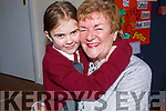 Roisin Kerins giving her nan Helen McElligott a big hug at the Grandparents Day in Moyderwell NS on Thursday.