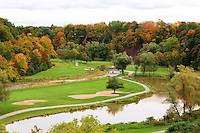 Fall colours at the Glen Abby golf course in Oakville, Ontario in Canada